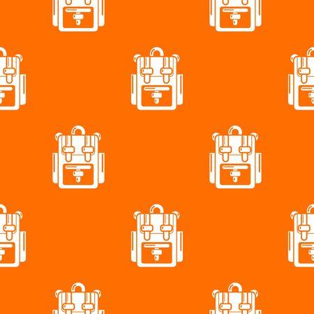 Backpack adventure pattern vector orange for any web design best