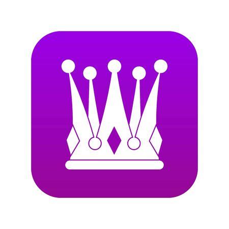 Kingly crown icon digital purple Vettoriali