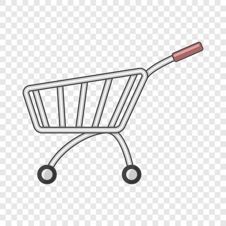 Market shopping cart icon. Cartoon illustration of market shopping cart vector icon for web design Stock Vector - 130249787