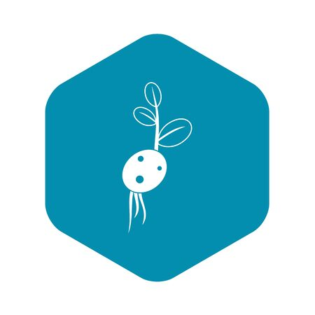 Potato sprout from the root icon. Simple illustration of potato sprout from the root vector icon for web Illustration