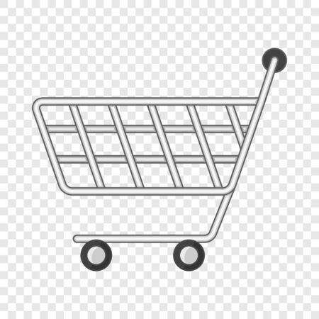 Icono de carrito de compras Minimarket, estilo de dibujos animados