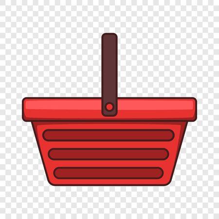 One hand shopping basket icon. Cartoon illustration of one hand shopping basket vector icon for web design