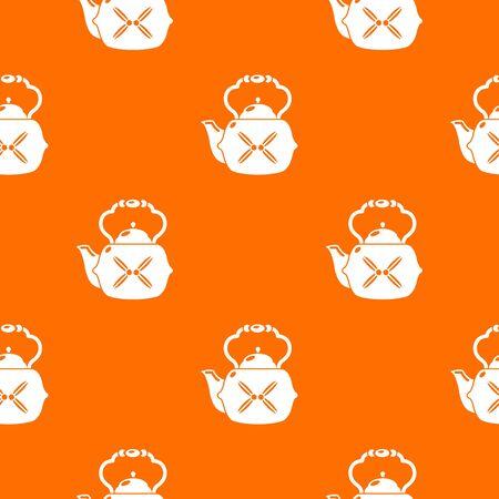 Kettle vintage pattern vector orange for any web design best Illustration