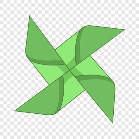Origami mill icon, cartoon style Иллюстрация