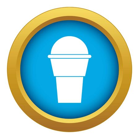 Ice Cream icon blue vector isolated on white background for any design Vettoriali