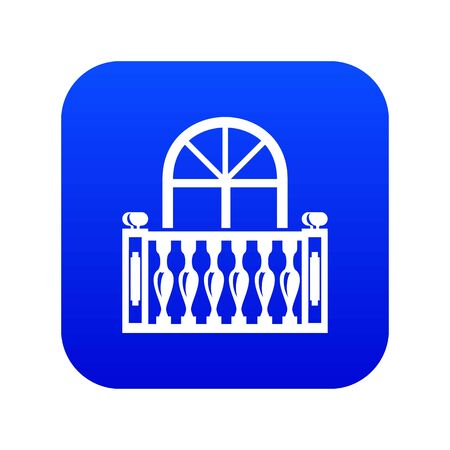 Panoramic balcony icon, simple style Иллюстрация