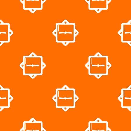 Lock retro pattern vector orange for any web design best Ilustración de vector