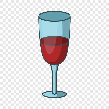 Red wine glass icon. Cartoon illustration of red wine glass vector icon for web design Çizim