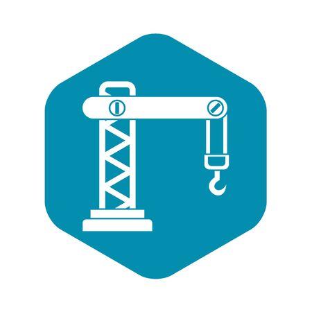 Crane icon. Simple illustration of crane vector icon for web