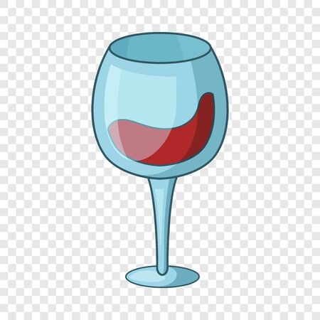 Red wine goblet icon. Cartoon illustration of red wine goblet vector icon for web design