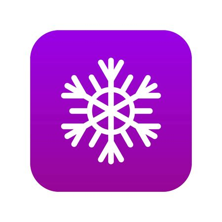 Snowflake icon digital purple Vectores