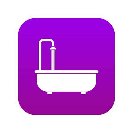 Bathroom icon digital purple