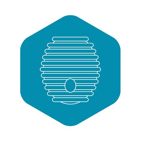 Beehive icon, outline style