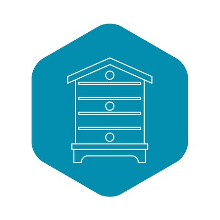 Hive icon, outline style