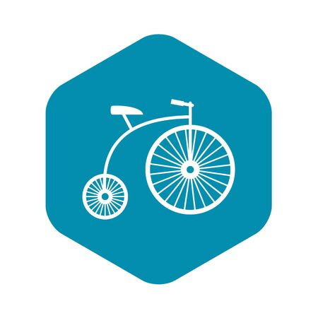 Penny-farthing icon, simple style