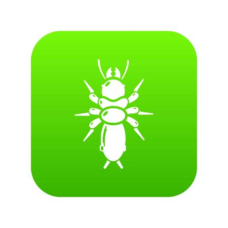 Poison insect icon, simple style