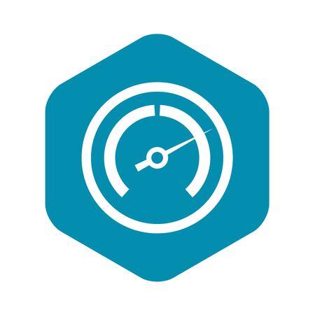 Speedometer icon, simple style Stock Photo