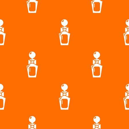 Perfume bottle art pattern orange