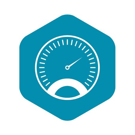 Speedometer icon, simple style Stockfoto