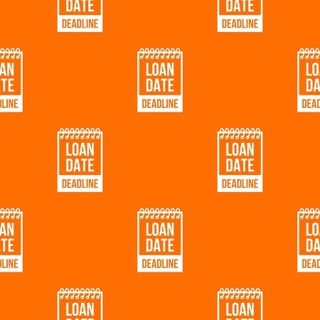 Deadline pattern orange