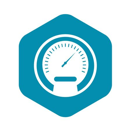 Speedometer icon, simple style 스톡 콘텐츠