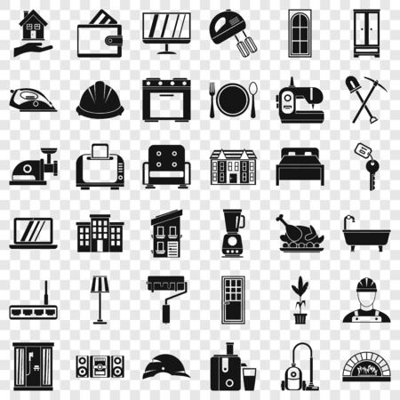 Good house icons set, simple style