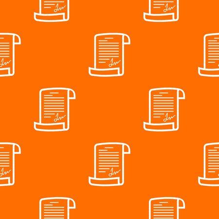Agreement pattern orange