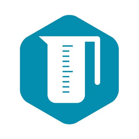 Measuring cup icon, simple style