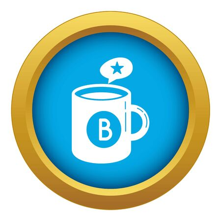 Brand cup tea icon blue isolated 写真素材
