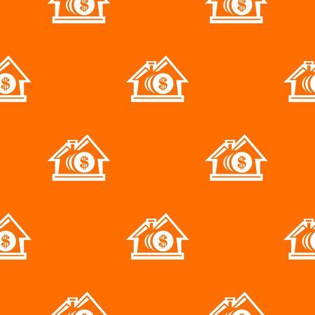 Bank pattern orange