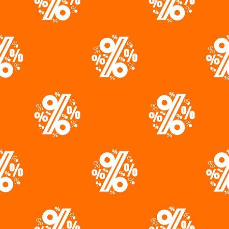 Percentage pattern orange Stock Photo
