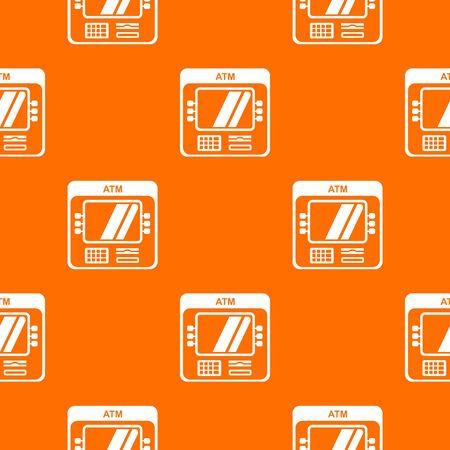 Computer pattern orange
