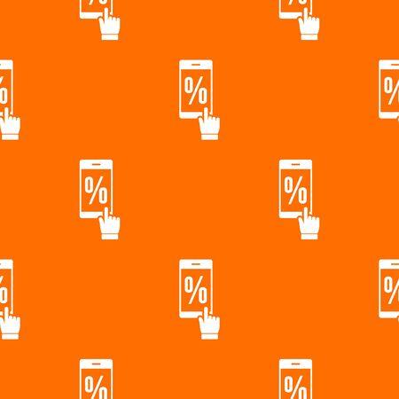 Percent on screen pattern orange
