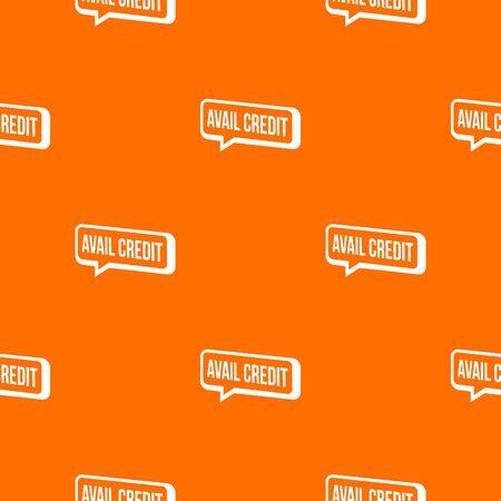 Avail credit pattern orange