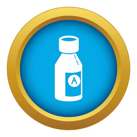 Juice pack icon blue isolated Imagens