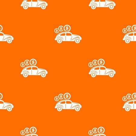 Car on credit pattern orange Stock Photo