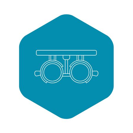 Trial lense frames icon, outline style 写真素材