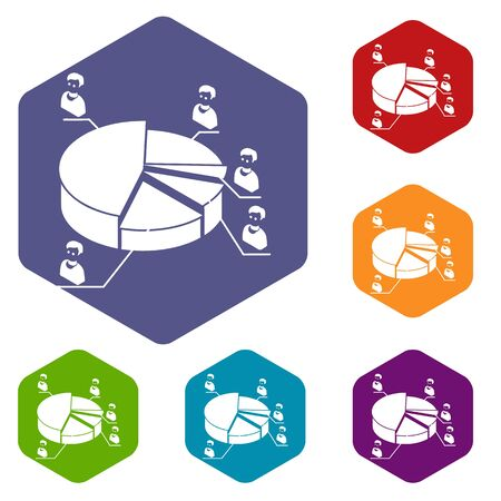 Election diagram icons hexahedron