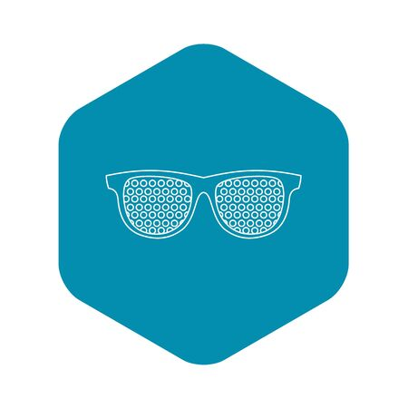 Pinhole glasses icon, outline style