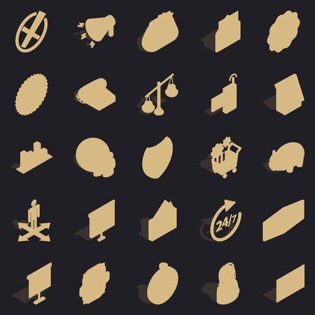 Coffers icons set, simple style Фото со стока