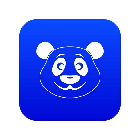 Panda icon digital blue