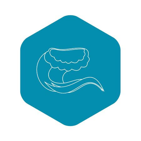 Water wave icon, outline style
