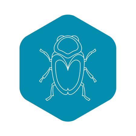 Icono de escarabajo escarabajo, estilo de contorno