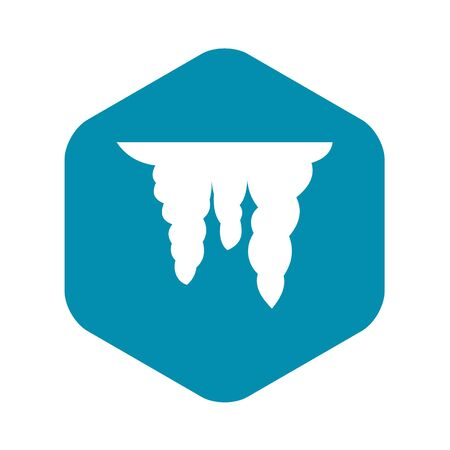 Icicles icon, simple style