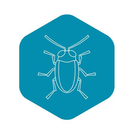 Cereal leaf beetle icon, outline style