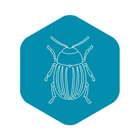 Colorado potato beetle icon, outline style
