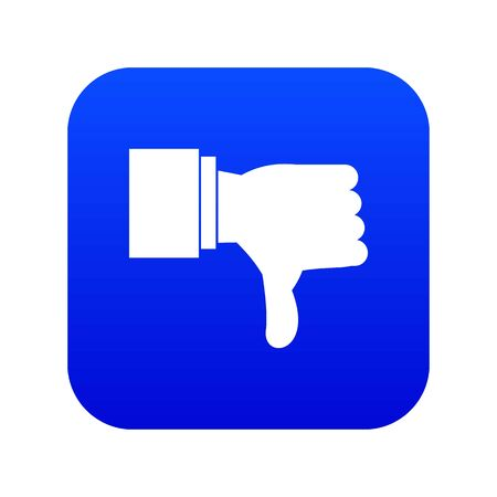 Thumb down gesture icon digital blue Imagens