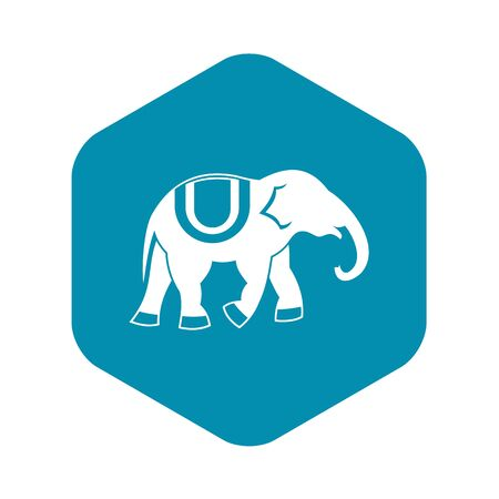 Elephant icon, simple style