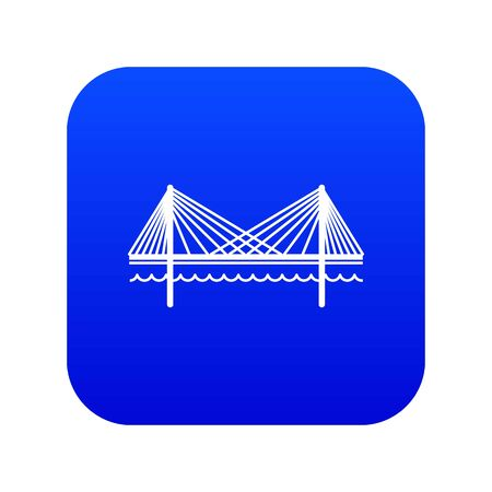 Bridge icon blue
