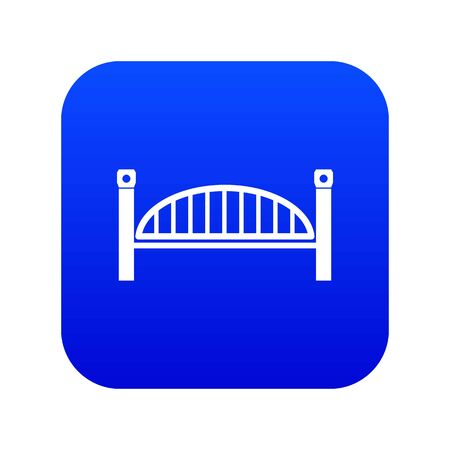 Modern arch bridge icon blue